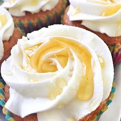 Lemon honey cupcake. Filled with lemon curd!