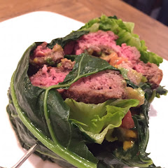 Collard wrapped burger