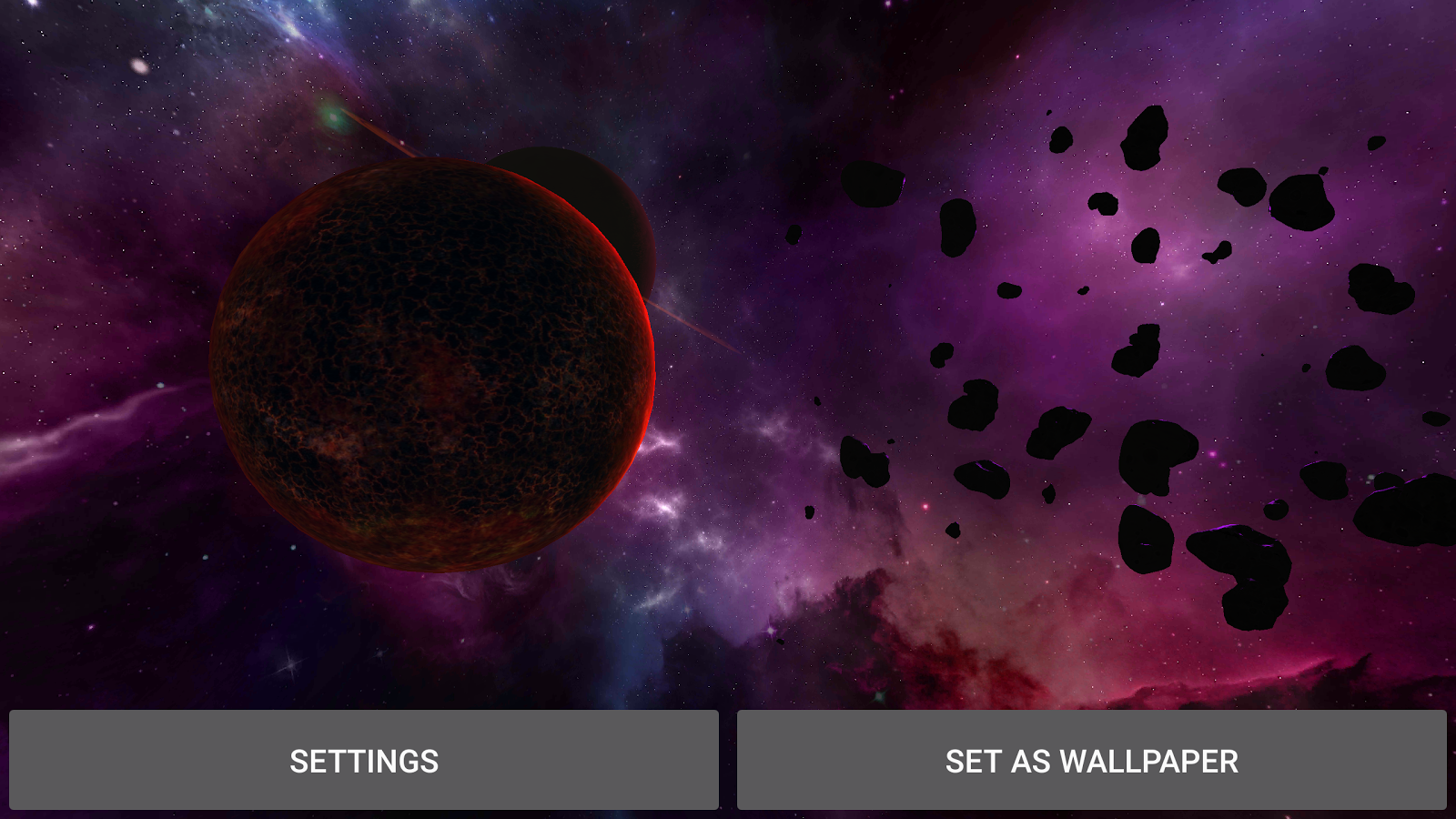 3D Galaxy Pack Live Wallpaper Screenshot 8