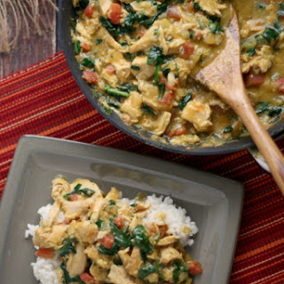 Smoked Turkey and Spinach Curry
