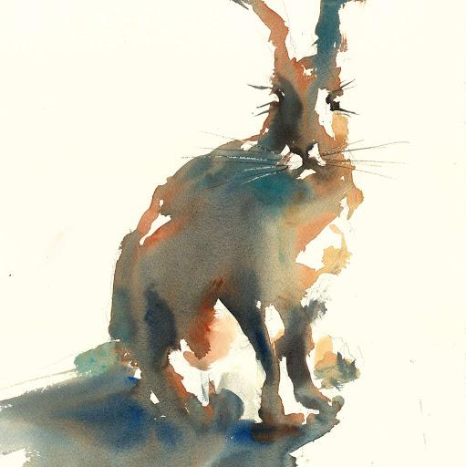 Rabbit bunny art painting wildlife watercolour