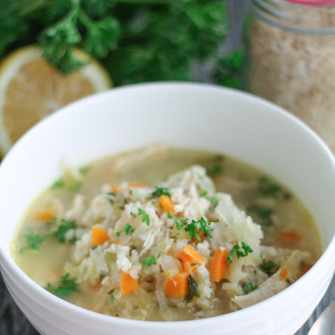Lemon Chicken Vegetable Soup - Gluten Free
