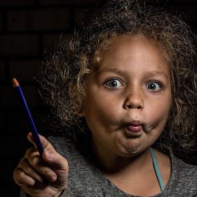 My Magoo by David Spillane - Babies & Children Child Portraits ( einstein, child, girl, delightful perspective, funny, nsw, emotive, fun, lithgow, eyes )