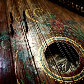 Makes Old Music by Barbara Brock - Artistic Objects Musical Instruments ( xylophone, musical instrument, antique string instrument, wood musical instrument, lyre )