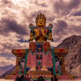 The Future Buddha by Pradyumna Verma - Buildings & Architecture Statues & Monuments ( pradyumna, india, matrieya, ladakh, valley, nubra, photography, future buddha )