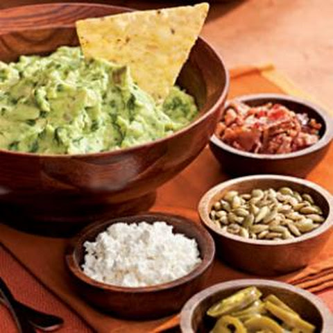 Roasted Garlic Guacamole with Help-Yourself Garnishes Recipe | Yummly