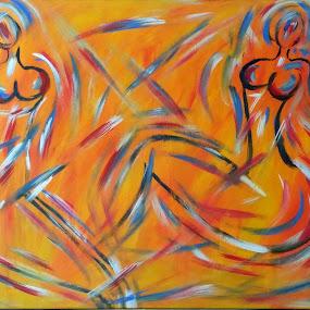 LADIES by Zoritza  Wejnfalk - Painting All Painting ( ladies, nude ladies, nude, nude art, abstract art, zoritza, zozo, wejnfalk )