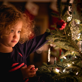 by Mike DeMicco - Babies & Children Child Portraits ( decorate, xmas, christmas, cute, bokeh, pretty )