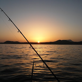 A good day fishing  by Mark Williams - Novices Only Landscapes ( canary islands, ocean view, fishing, sunset, water )