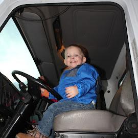Driving the Truck by Kim Tindol - Babies & Children Children Candids