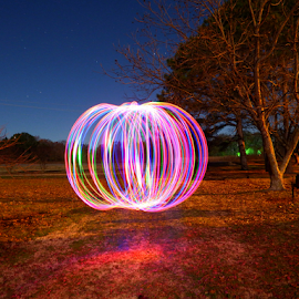 laserbow by Brian Box - Abstract Light Painting ( night photography, led, night scene, colors, nighht, long shutter, fuji, long exposure, rainbow, night shot, nightscape )