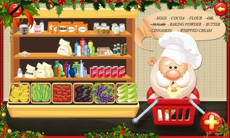 android Santa Cake Salon Screenshot 0
