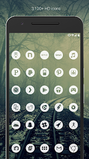 Light Void Pro - Weiß Minimal Icons Screenshot