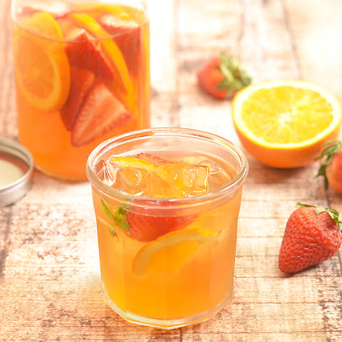 Strawberry Orange Refrigerator Tea