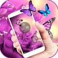Purple butterfly Spring Theme