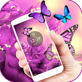 Free Purple butterfly Spring Theme APK for Windows 8