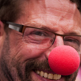 Red Nose guy by Ginny Anderson - People Portraits of Men ( happy, rednose, man )