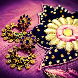 Ear rings by Shiva Ranjita - Artistic Objects Jewelry ( ear rings, jewellery, blue, beautiful, pink,  )
