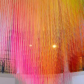 Color strings by Gabriela Zandomeni - Abstract Patterns ( colors, optical illusion )