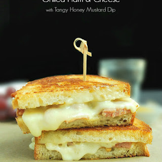 Grilled Ham and Cheese with Tangy Honey Mustard Dip