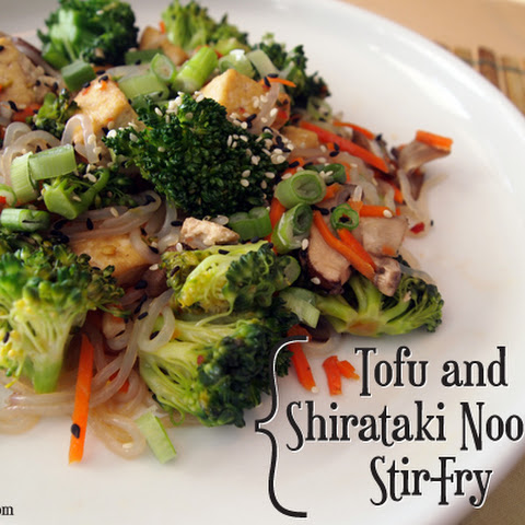Tofu and Shirataki Noodle Stir-Fry