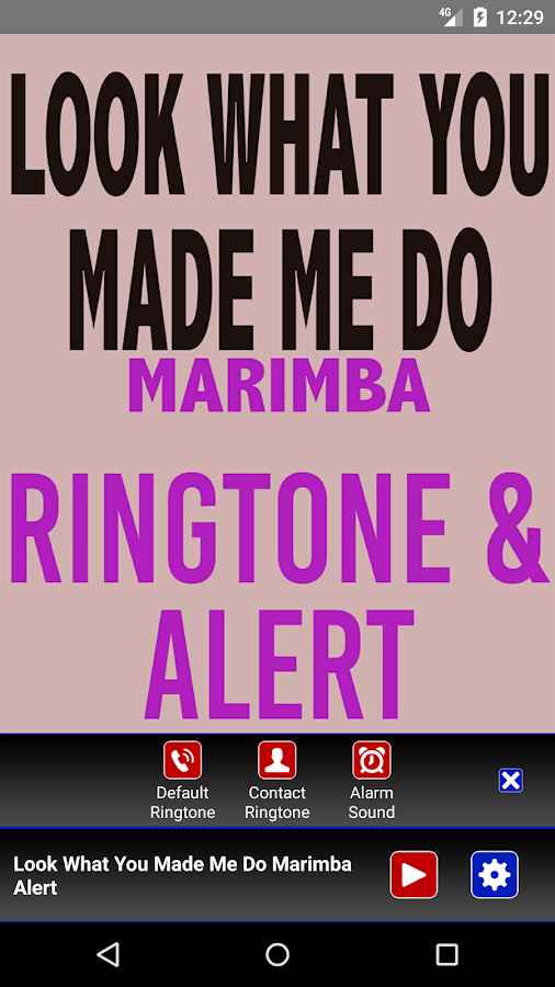 Schau, was du mich gemacht hast Marimba Ringtone android apps download