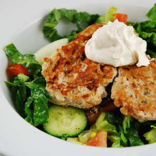Ground Turkey Patties with Tahini Yogurt Sauce