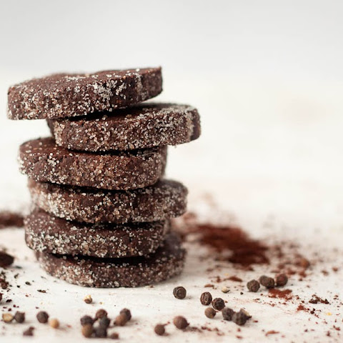 Chocolate Espresso Black Pepper Cookies