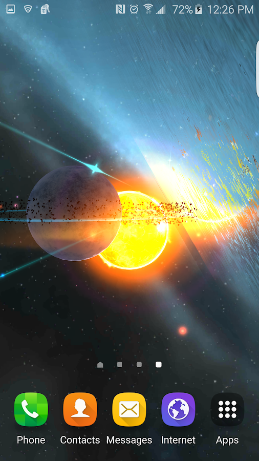Alien Galaxy 3D Live Wallpaper Screenshot 7