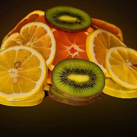 lemon,orange and kiwi by LADOCKi Elvira - Food & Drink Fruits & Vegetables