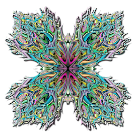 Julian Polar Butterfly by Peggi Wolfe - Illustration Abstract & Patterns ( polar, abstract, butterfly, wolfepaw, gift, unique, bright, illustration, fun, digital, print, decor, pattern, color, unusual, julian, fractal )