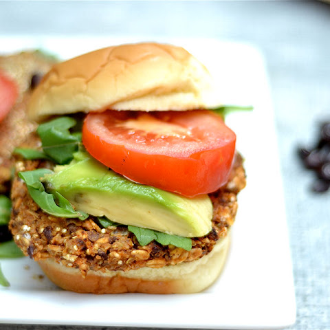 Black Bean, Sweet Potato, and Quinoa Veggie Burger