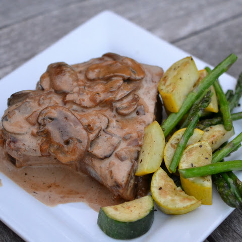 Pork Chops with Brandy Cream Sauce