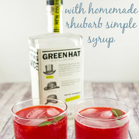 Rhubarb Simple Syrup (for a Rhubarb Collins)