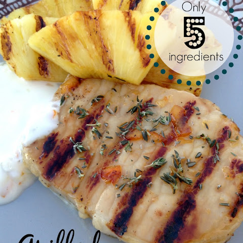5 Ingredient Grilled Pork Chops And Pineapple