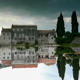 Reflection by Dafina Shekutkovska - Buildings & Architecture Other Exteriors ( reflection, bosnia, trebinje, house, sity, river )