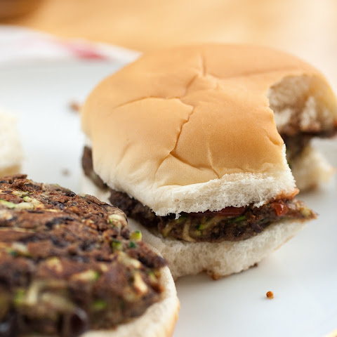 Simple Black Bean Zucchini Burgers