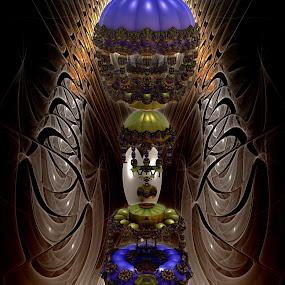 Casino Royale by Rick Eskridge - Illustration Sci Fi & Fantasy ( fantasy, jwildfire, mb3d, fractal, twisted brush )