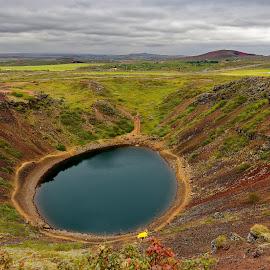 Crater Kerid  by Michaela Firešová - Landscapes Waterscapes ( water, crater, landscape )
