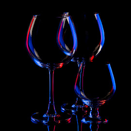 Mid night Blue by Rakesh Syal - Artistic Objects Glass (  )
