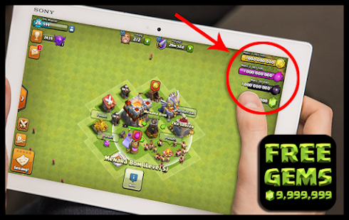 Free Free Gems 2017 for COC Prank APK for Windows 8