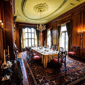 Dining Room at the Paine Art Center by Jason Lockhart - Buildings & Architecture Other Interior ( wisconsin, dining room, oshkosh, paine art center, wide angle shot )