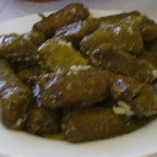 Stuffed Grape Leaves with Meat & Rice