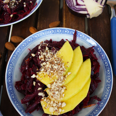 Easy Sauerkraut Salad with Mango and Almonds