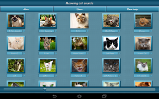 Screenshot of Meowing Cat Sounds