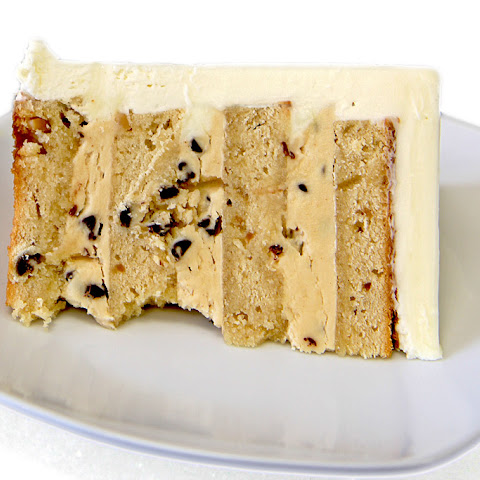 Peanut Butter Layer Cake with Chunky Peanut Butter Chip Filling
