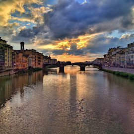 Storybook Sunset by Madhav Shukla - Novices Only Landscapes ( clouds, florence, sunset, beautiful, bride )