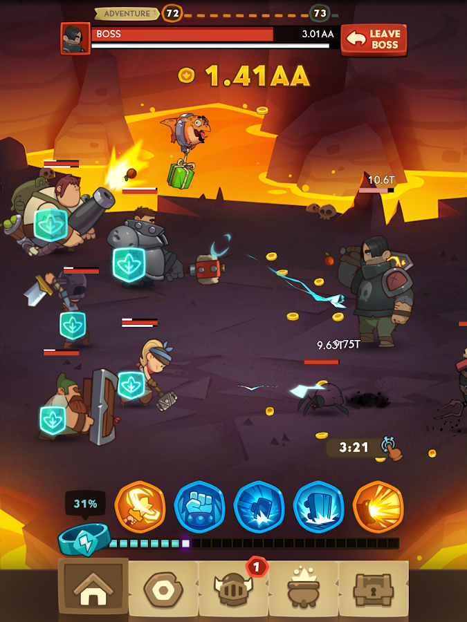 Almost a Hero - RPG Clicker Game with Upgrades Screenshot 13
