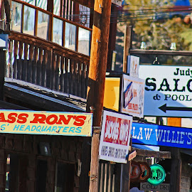 Oatman Signs by Annette Lagunas - Artistic Objects Signs ( cool signs, olden days, arizona, jackass rons, oatman )