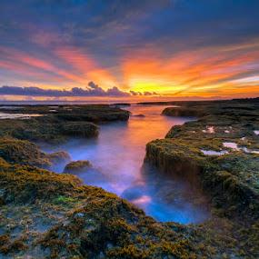 Malingping Beach by Mac Evanz - Landscapes Sunsets & Sunrises